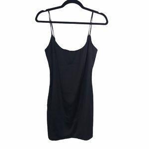 Oh Polly | 90s Cami Slip Dress in Black Size 8
